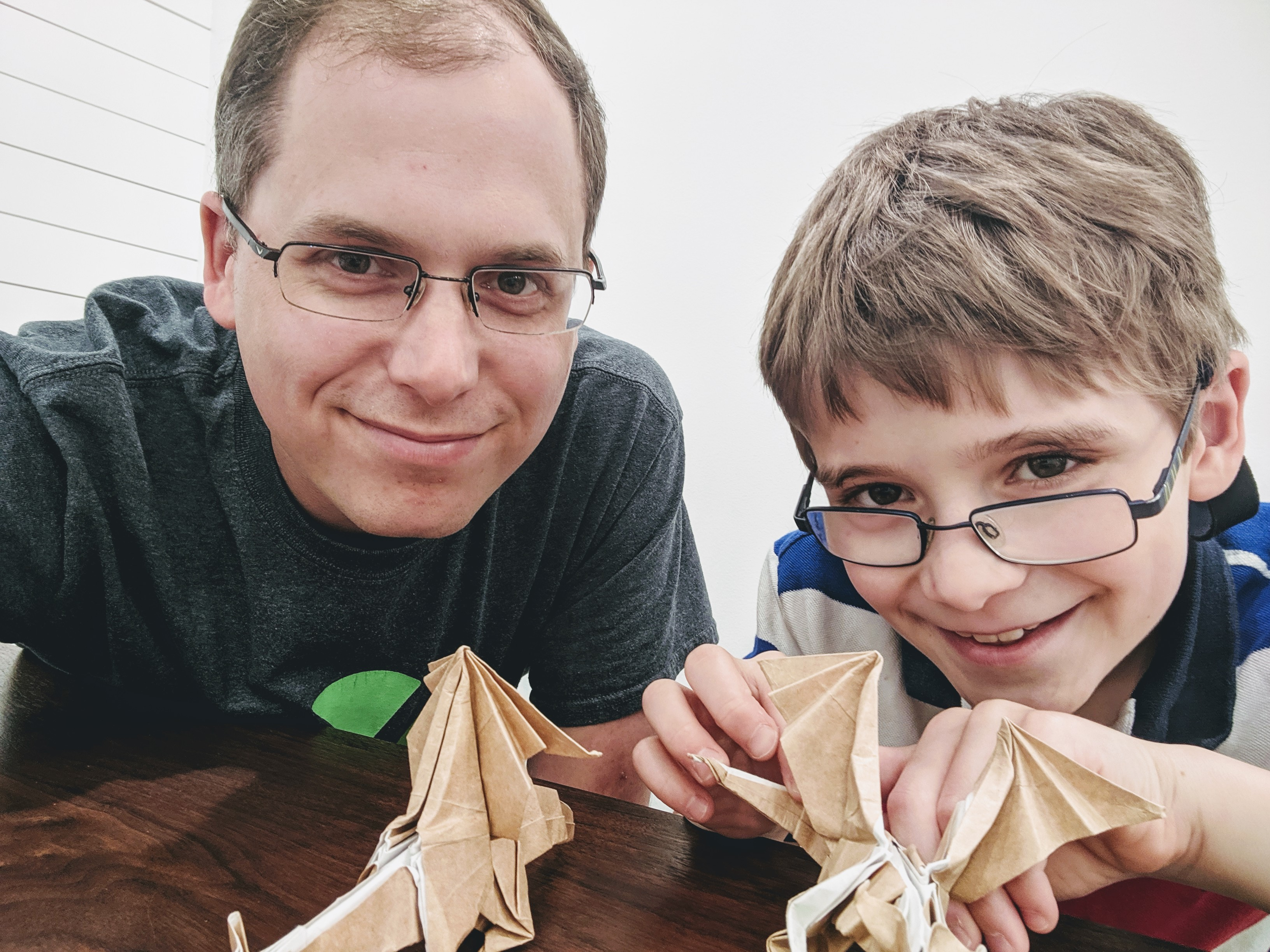 origami with son