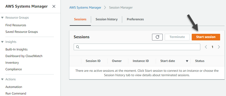 Leverage AWS System Manager Sessions