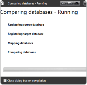 Comparing databases