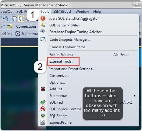 external tool menu