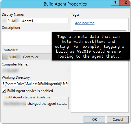 Reviewing Build Agent Properties